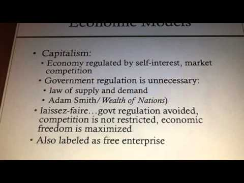 Sociology 13.1 Lecture - Economic Institutions