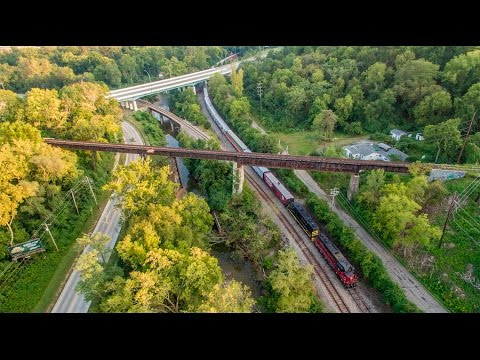 Cincinnati Passenger Trains - LM&M, Fireworks, & AAPRCO Special (Drone Video)