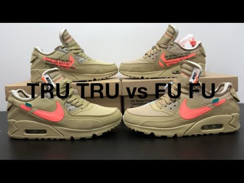 44aa2bb8050 REAL VS FAKE NIKE OFF WHITE AIR MAX 90 DESERT ORE Mango Mango Review & On  Feet