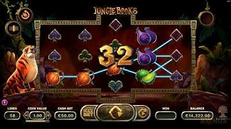 Jungle Books Slot -BIG WIN - Game Play - by Yggdrasil