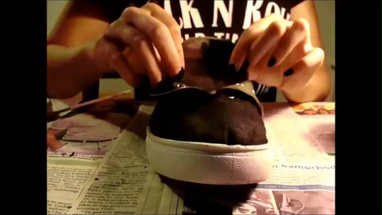 2 Diy Malowanie Butów Moje Nowe Stare Trampki Youtube