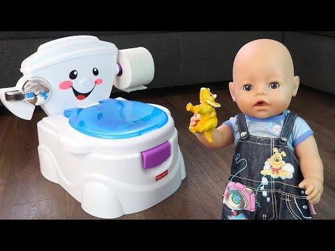 ПОЮЩИЙ ГОРШОК ДЛЯ МИШИ Кукла #Бебибон Подарок Для Малыша Приучаем Ребёнка к Горшку