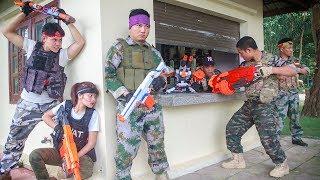 LTT Nerf War : SEAL X Warriors Nerf Guns Fight Attack Criminal Group Designing