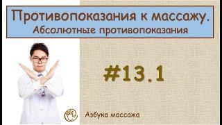 Противопоказания к массажу. Классификация противопоказаний | Урок 13, часть 1 | Уроки массажа