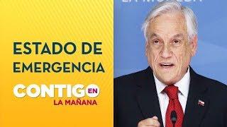 Presidente Piñera decretó Estado de Emergencia en Santiago de Chile - Contigo en La Mañana