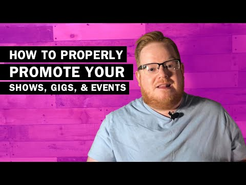 How To Promote Your Gigs And Concerts | Band Basics
