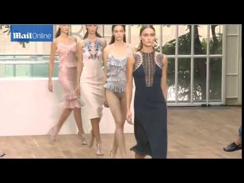 Models on the runway at Julien Macdonald reveal new fashion