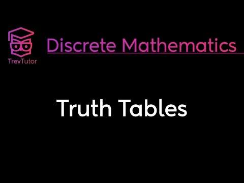 [Discrete Math 1] Truth Tables