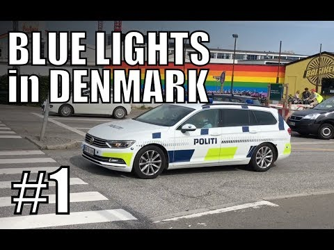 Blue Lights in Denmark #1 - Danish police, rescue and fire services compilation