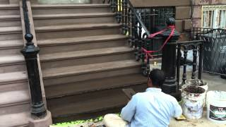 Brownstone Stoop Restoration In Bedford Stuyvesant, Brooklyn Ny