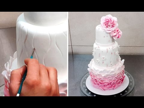 Wedding Cake Decorating Tutorial Decorar Con Fondant By