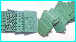 The Most Satisfying Floral Foam Dry Crushing ASMR Video | Relaxing Compilation #51