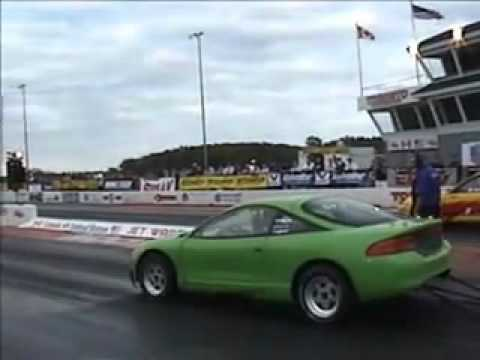 Evolution EG Civic 8 sec pass VS Green Turbo Talon - Cayuga CSCS 2005