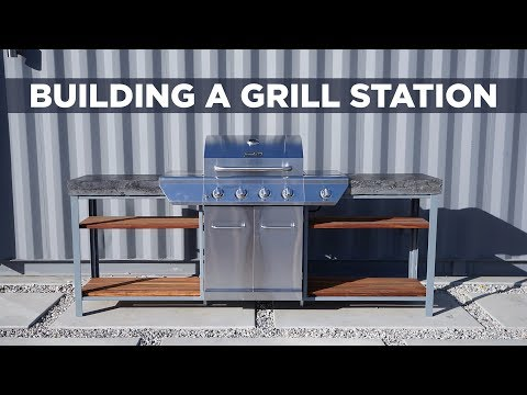Building A Grill Station With Concrete Countertops