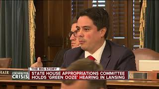 State House Appropriations Committee holds 'Green Ooze' hearing in Lansing.