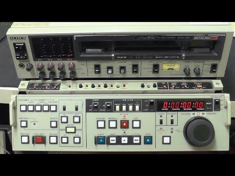 DL090 - 1980s Sony BVW-75P Betacam VCR Teardown 1/3