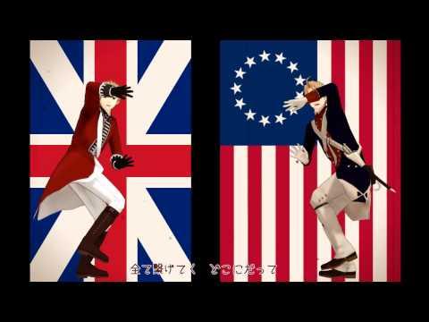 【AP Hetalia MMD】Britain to America de「Tell Your World」