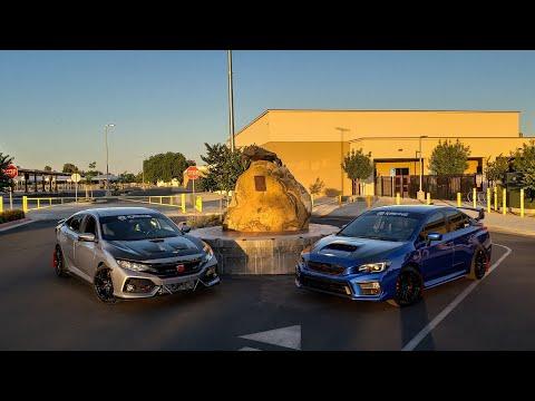 2017 Civic Si Vs 2018 WRX (Official Race)