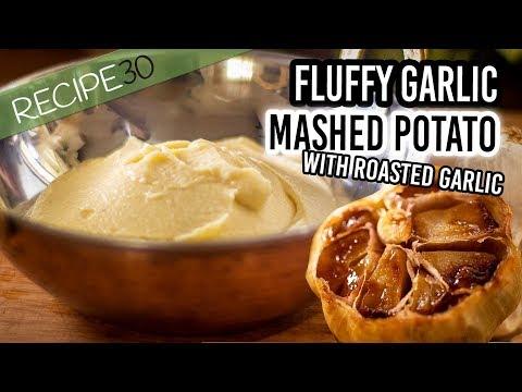 Roasted Garlic Fluffy Mashed  Potato