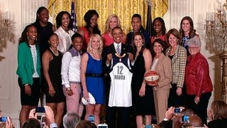 President Obama Welcomes the 2012 WNBA Champion Indiana Fever