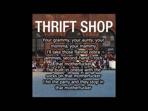 Macklemore ft. Ryan Lewis - Thrift Shop Lyrics HD