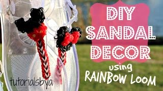 DIY Rainbow Loom Sandal Decor Tutorial | How To Thumbnail