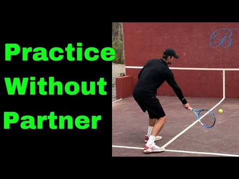 Drills to PRACTICE BY YOURSELF when you can't find a partner using the wall!