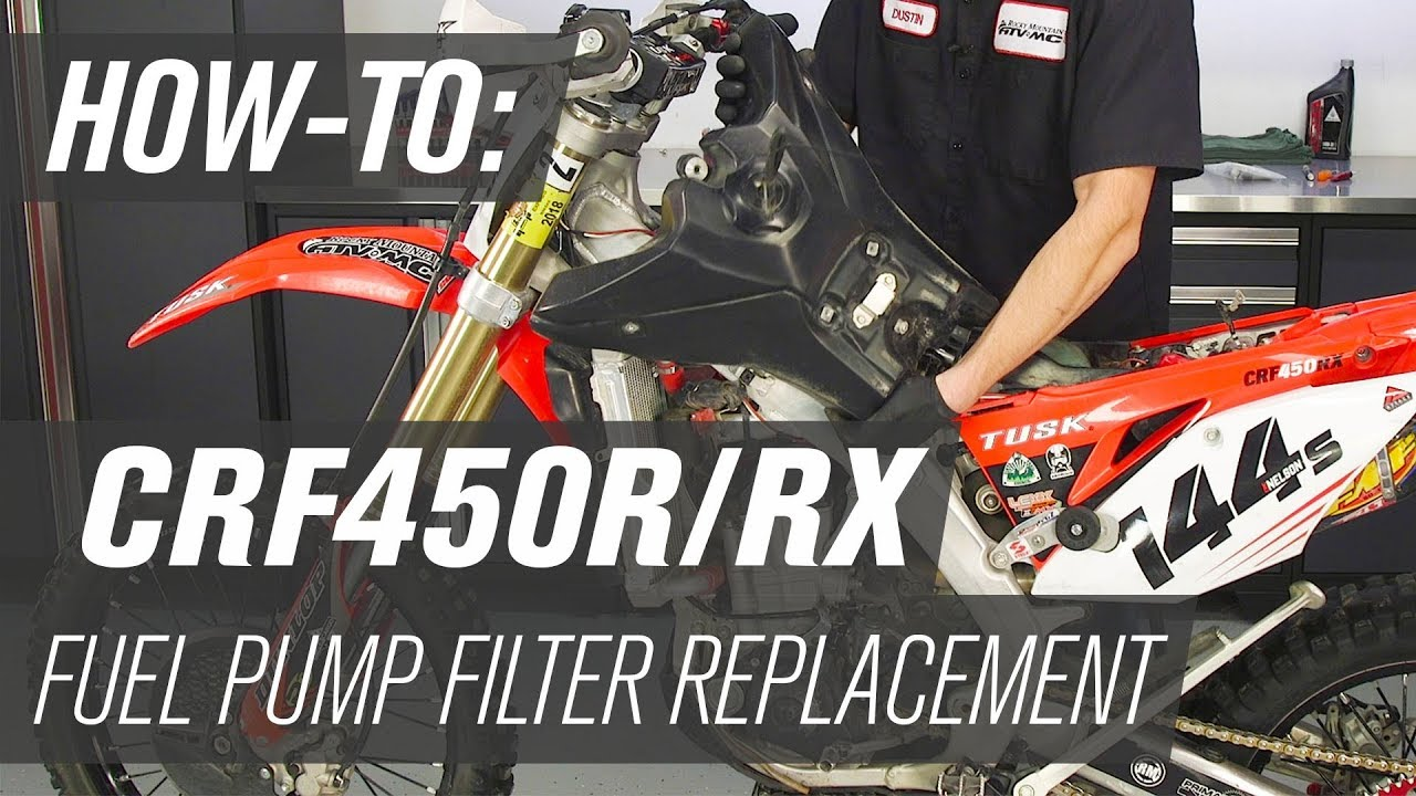 hight resolution of honda crf450r rx fuel pump filter replacement