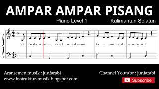 not balok ampar ampar pisang - piano level 1 - lagu daerah kalimantan selatan - doremi