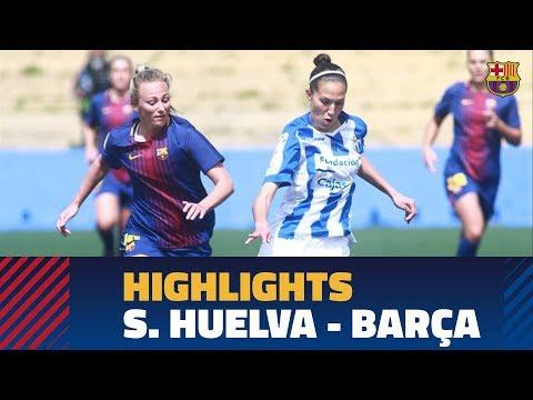[HIGHLIGHTS] FUTBOL FEM (Liga):  Sporting de Huelva – FC Barcelona  (1-1)