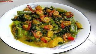 চিংড়ি ও মিষ্টি কুমড়া দিয়ে  পুইশাক | Shrimp & Pumpkin Curry with Basella/Malabar Spinach | পুইশাক