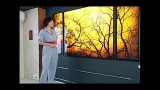 видео Световые панели на стену