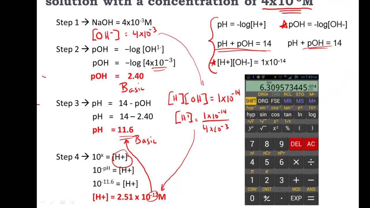 calculate poh
