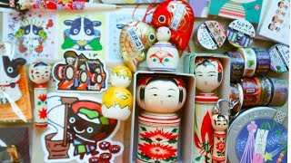 KAWAII JAPAN HAUL 🇯🇵(cute stationery, kokeshi dolls, & more!!) | Rainbowholic