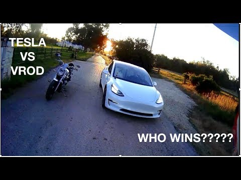 Cocky Tesla Model 3 thinks he can beat my VROD!