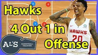 Atlanta Hawks 4 Out 1 In Stagger DHO Basketball Play