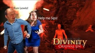 Divinity Original Sin: Approaching a Cave (Part 53) Team Double Dragon