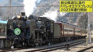 【2/14・SL渋沢栄一号】秩父鉄道C58+12系 SL急行『パレオエクスプレス』