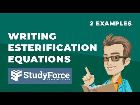 Writing Esterification Equations