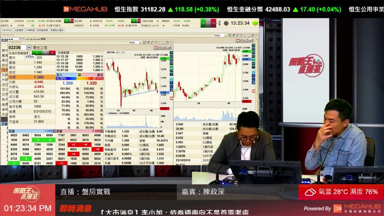 【油服股值搏率高】盤房實戰 Part 1 2018-06-12 - YouTube