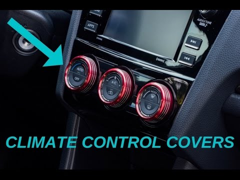 Climate Control Knob Cover (2015 - 2017 WRX + more) Install and Overview