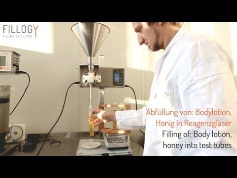 Fillogy Flowable M - Bodylotion, Honig in Reagenzgläser - Смотреть видео