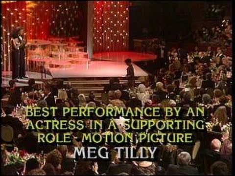 Meg Tilly Wins Best Supporting Actress Motion Picture  Golden Globes 1986