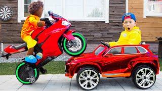 قصة كيف ترسم سينيا سيارة بألوان سحرية