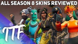All Season 8 Skins Reviewed! (Fortnite Battle Royale)