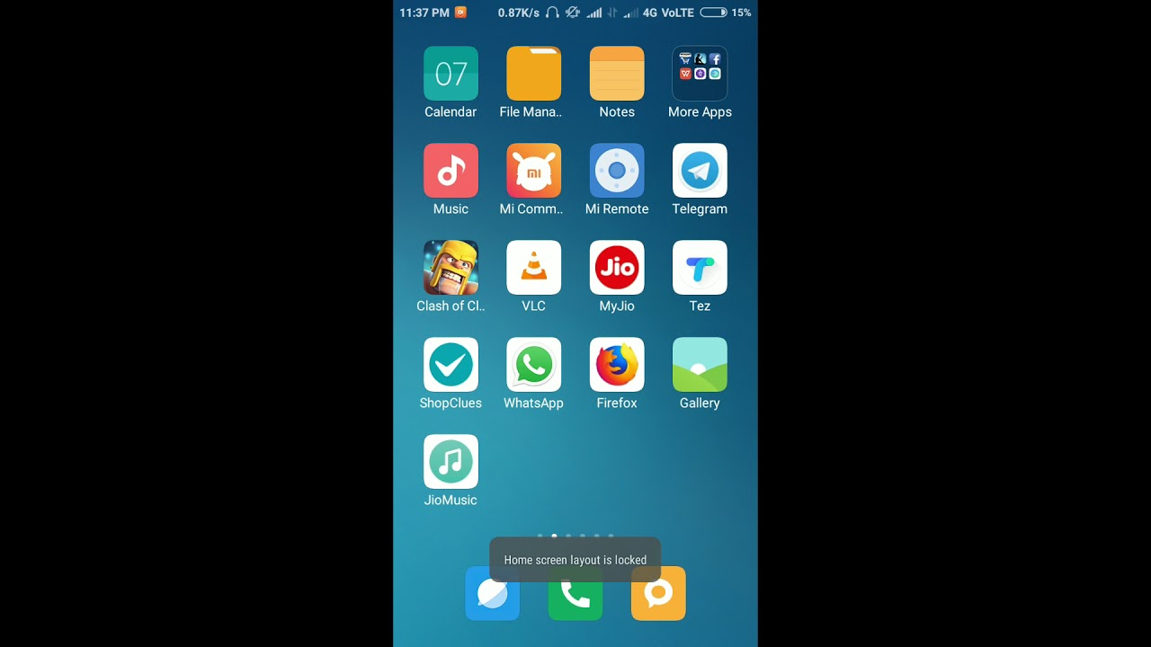 how to unlock home screen layout - YouTube