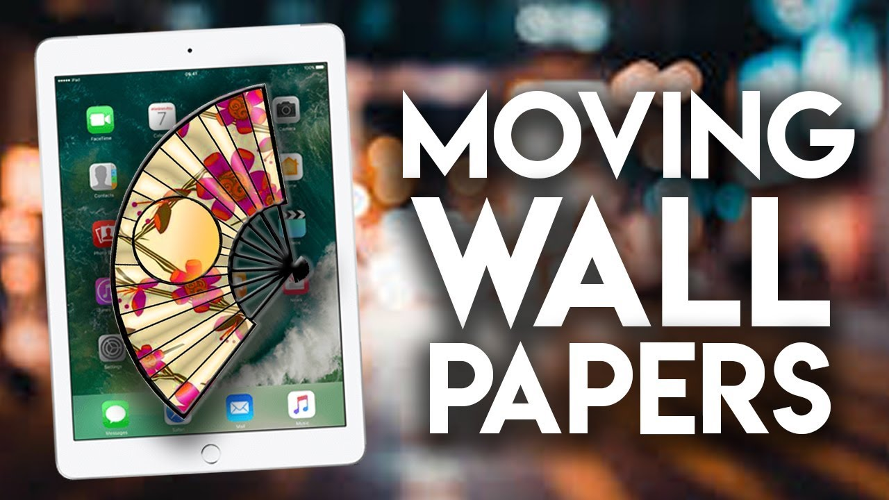 How To Get Free Moving Wallpapers Iphone Ipad Youtube