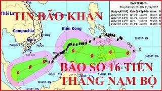 TIN BÃO KHẨN - Bão Số 16 TEMBIN Giật Cấp 13 Đang Tăng Tốc Tiến Thẳng Vào Nam Bộ #111