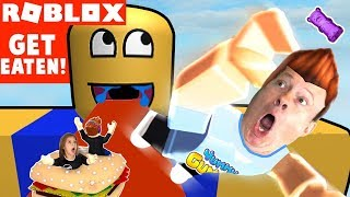 WE BECOME FOOD - GET EATEN in ROBLOX - Family YG Gaming Challenge - KIDS VIDEO GAME