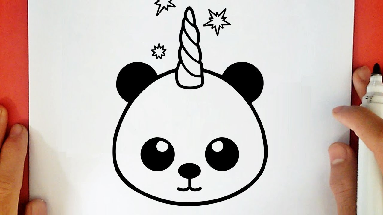 Comment Dessiner Un Panda Licorne Kawaii Youtube